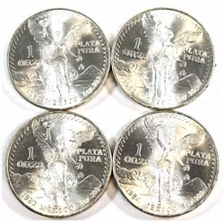 1983-1986 Mexico 1oz .999 Fine Silver Libertad. 4pcs (Tax Exempt).