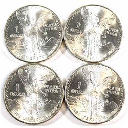 1983-1986 Mexico 1oz .999 Fine Silver Libertad. 4pcs (Tax Exempt).