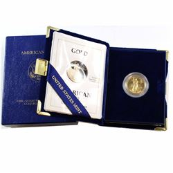 1993 USA 1/4oz Fine Gold Proof Eagle in All Original Packaging (Tax Exempt).