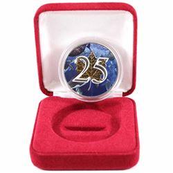 2013 Canada 1oz .9999 Fine Silver 25th Anniversary Maple Leaf Colourized Underwater Design Encapsula