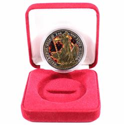 2016 Great Britain 1oz .999 Fine Silver Britannia Coloured, Gold Plated & Ruthenium Plated Encapsula