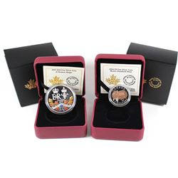 2015 Canada $20 Historic Reign & 2016 Canada $3 Queen Elizabeth Rose Fine Silver Coins (Tax Exempt).