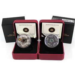 2009 Canada $8 Maple of Wisdom & 2010 Canada $8 Maple of Strength Fine Silver Coins (Tax Exempt). 2p