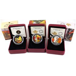 2013-2015 Canada $20 Autumn Fine Silver Coin Collection (Tax Exempt). You will receive the 2013 Autu