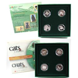 1997 Canada Best Friends Dogs & 1999 Canada Cats Sterling Silver 50-cent Proof Sets. 2 sets.