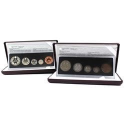 1908-1998 Canada Commemorative Sterling Silver Proof & Antique Sets. 2pcs.