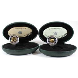 1999 Canada Nunavut Two Dollar Silver Proof & 2000 Canada Knowledge Two Dollar Silver Proof Coins. 2