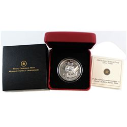 2008 Canada Poppy Limited Edition Proof Sterling Silver Dollar.