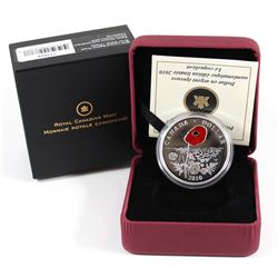 2010 Canada Limited Edition Proof Sterling Silver Dollar - Poppy.