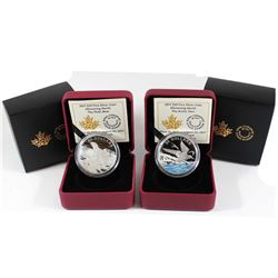 2017 Canada $20 Glistening North Polar Bear & Arctic Tern Fine Silver Coins (Tax Exempt). 2pcs.