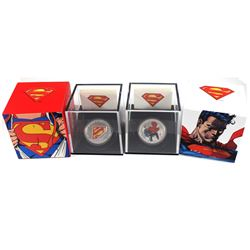 2013 Canada $20 Superman Shield & Man of Steel Fine Silver Coins (Tax Exempt). 2pcs.