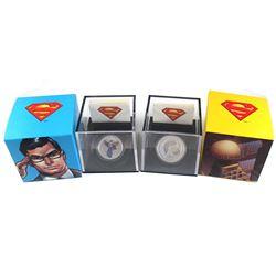 2013 Canada $15 Modern Day Superman & $20 Superman & Metropolis Fine Silver Coins (Tax Exempt). 2pcs