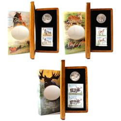 2004-2006 Canada Limited Edition $5 Coin and Stamp Sets. You will receive the 2004 Majestic Moose, 2