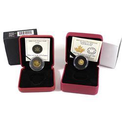 2004 Canada 50-cent 1/25 Fine Gold Moose & 2017 Canada 25-cent 5g Fine Gold Arctic Fox (Tax Exempt).