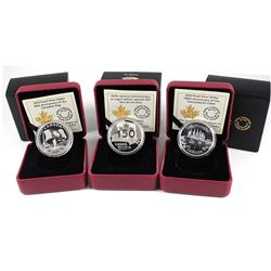 2015-2017 Canada Proof Fine Silver Dollar Collection (Tax Exempt). You will receive the 2015 50th An