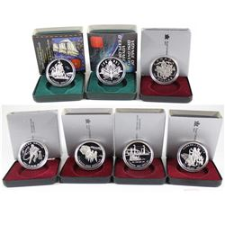 1990-2000 Canada Proof Silver Dollar Collection. You will receive 1990, 1991, 1992, 1993, 1994, 1999
