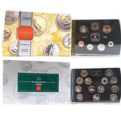 2000 Canada Polar Bear Specimen Set & 2000 Canada Specimen Millennium 25-cents Set w/ Medallion. 2pc