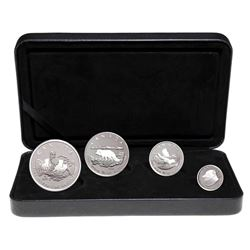2004 Canada Fractional Arctic Fox .9999 Silver 4-coin Set (Tax Exempt).