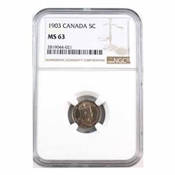 1903 Canada 5-cent NGC Certified MS-63