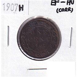 1907H Canada 1-cent EF-AU (corrosion)