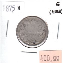 1875H Canada 25-cents Good (hole)