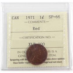 1971 Canada 1-cent ICCS Certified SP-66 Red.