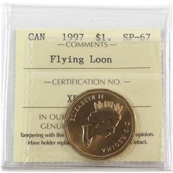1997 Canada Flying Loon $1 ICCS Certified SP-67.