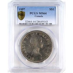 1957 Canada Silver Dollar PCGS Certified MS-64