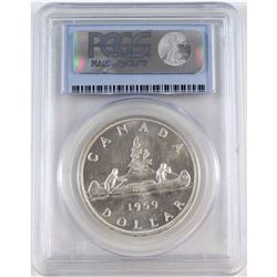 1959 Canada Silver Dollar PCGS Certified MS-64