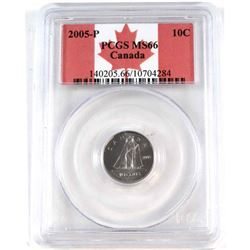 2005-P Canada 10-cent PCGS Certified MS-66