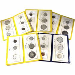 1959-1967 Canada 6-coin Year Sets in Folders. You will receive the following years, 1959, 1960, 1962