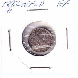 1882H Newfoundland 5-cent Extra Fine.