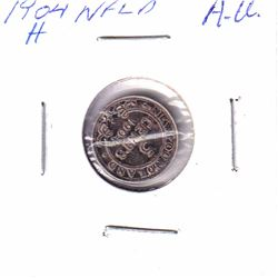 1904H Newfoundland 5-cent Almost-Uncirculated