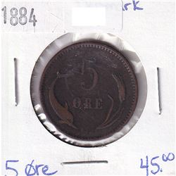 Denmark 1884 5 Ore