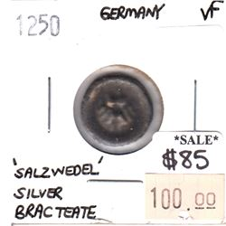 Germany 1250 'Salzwedel' Silver Bracteate Very Fine