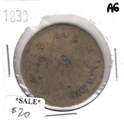 """1830 Great Britain Wi2086 Token """"God Save the King"""""""