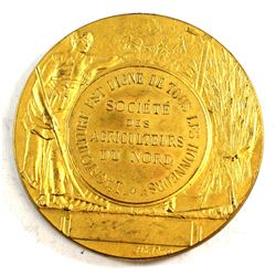 "Northern Agricultural Society ""Agriculture is Worthy of Honours"" Medallion. Diameter 50 mm"