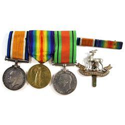 Lot of World War I & II Medals: 1939-1945 Defense Medal, 1914-1948 British World War 1 War Medal & 1