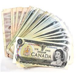 Lot of 54x 1973 $1.00 Notes & 7x 1986 $2.00 Notes. 61pcs total