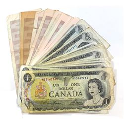 Lot of 15x 1973 $1.00 Notes & 12x 1986 $2.00 Notes with All Different Prefixes. 27pcs total