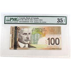 2004 $100 BC-66b, Bank of Canada, Jenkins-Carney, EJZ Prefix, PMG Certified Choice VF-35 EPQ