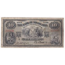 1935 $10 The Bank of Nova Scotia Banknote