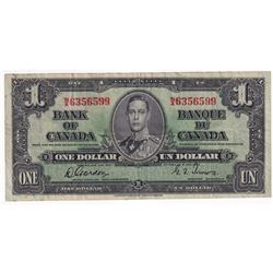 1937 $1 BC-21c Banknote with Ink Smear on the Serial Number.