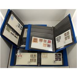 1983-1999 Canada First Day Covers in Blue Cover craft Albums. Most Stamps come in blocks of 4, with