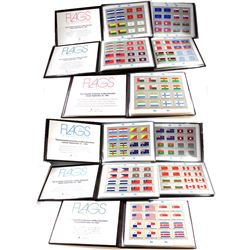 1980-1989 Flags of the United Nations Stamp Sets Complete Collection of Mint Sheet lets in Brown Lea