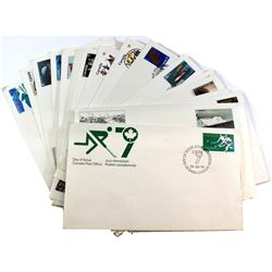 Stamps; Canada Post First Day Issue Stamp Collection. You will receive 25 Different Stamp Designs. T