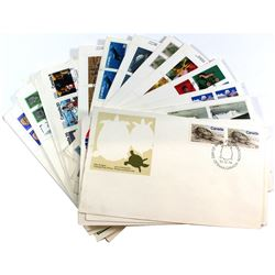 Stamps; Canada Post First Day Issue Stamp Collection. You will receive 36 Different Stamp Designs. T