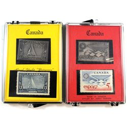 Canada 999. Fine Silver Bar & Postage Stamp Set by Jerry Parker. You will receive the Royal Yacht 'B