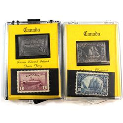 Canada 999. Fine Silver Bar & Postage Stamp Set by Jerry Parker. You will receive the P.E.I Train Fe