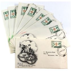 1955 Canada Boy Scout Jamboree First Day Cover Collection. You will receive 2 each of the Black, Gre